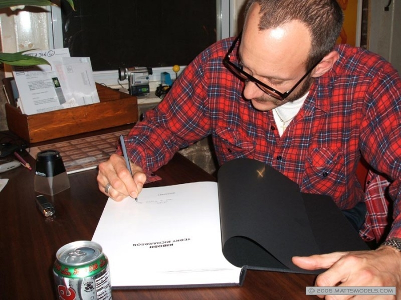 Terry Richardson signing his book for Matt Frackas