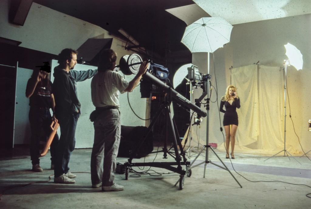 Matt Frackas directing a TV Phone Sex ad circa 1995